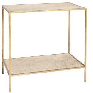 Sassionhome Manhattan Rattan Gold Side Table