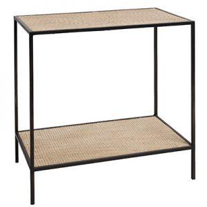 Sassionhome Manhattan Rattan Black Side Table