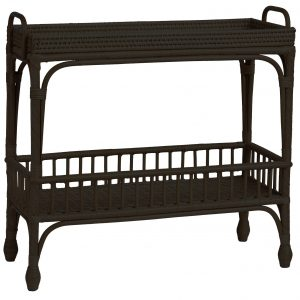 Sassionhome Palm Springs Bar Cart Black