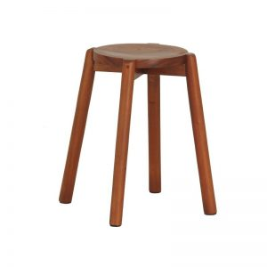 CT Round Timber Stool Set of 2