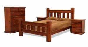 MD Windsor Bedside Table - Rough Sawn