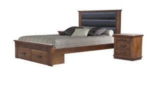 MD California Double Bed + Box - Rustic Nutmeg