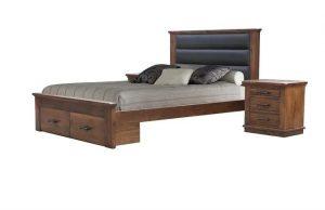 MD California Single Bed + Box - Rustic Nutmeg