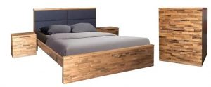 MD La Mont Queen Bed - Clear