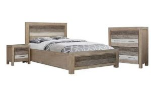 MD Peninsular King Bed - Grey