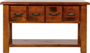 MD Windsor Hall Table 4D + Legs - Rough Sawn