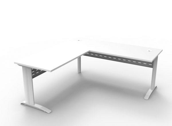 RL Span White Desk and Return