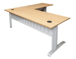 RL Span Beech Desk and Return