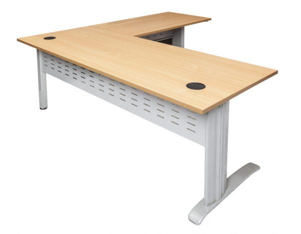 RL Span Beech Desk and Return