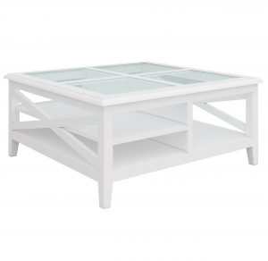VI Hamilton Squ Coffee Table-Glass Top