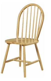 MF Boston Chair with Stretcher Legs Natural
