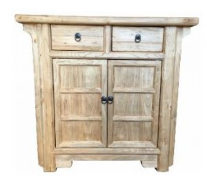 MF Chinese Antique Reproduction 2-Drawer 2-Door Cabinet