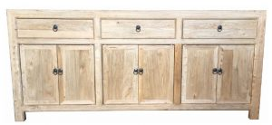 MF Chinese Antique Reproduction 3-Drawer 6-Door Sideboard