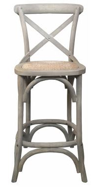 MF Grey Crossback Barstool