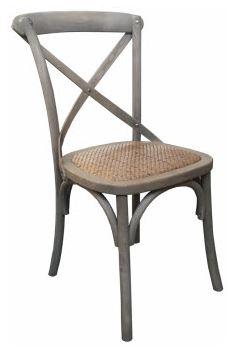 MF Grey Crossback Chair
